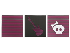 Pop Rock Princess Canvas (Set of 3)