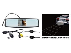 4.3'' Rearview Mirror Wireless Back-Up Camera Sys