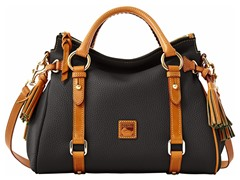 Dillen II Small Satchel, Black w Tan Tri