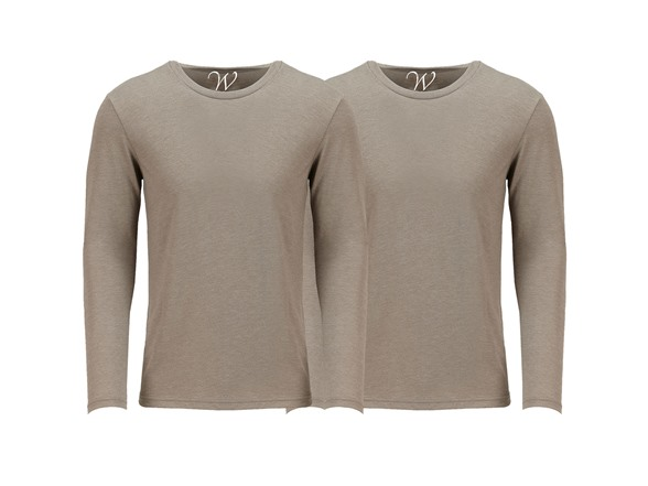 Image of 2-pack Ultra Soft Sueded Crew Neck L/s