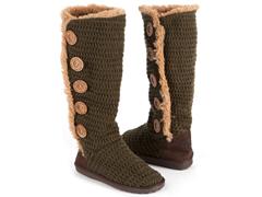 MUK LUKS® Crochet Button Up Boot - 10