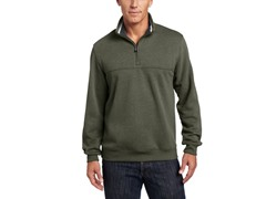 Arrow Men's Partial-Zip Sueded Pullover, Dk Green