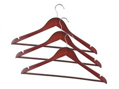 Wooden Hangers Mahogany 72-pc