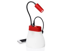 Solar Lamp & Phone Charger - Red