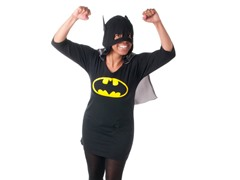 Batgirl Hooded Dorm Shirt with Cape