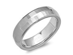 Tungsten Band Ring w/Brick Shape