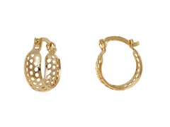Gold Circle Cut-Out Hoop Earring