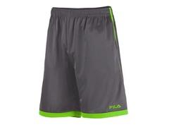 Athlete's Training Shorts, Grey/Lime (S)