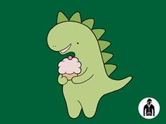 Cupcakeosaur Jersey Zip Hoodie