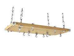 Rectangular Natural Wood Ceiling Rack