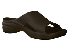 Women's Premium Slide, Dark Brown / Black