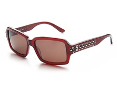 Red Sunglasses w/ Studs and Brown Lens