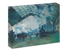 Monet Arrival  of the Normandy Train, Gare Saint-Laza