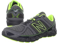 Men's 750v1 Running Shoe, Grey/Lime