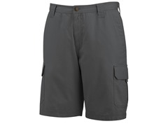 "Burke 10"" Cotton Twill Shorts, Charcoal"