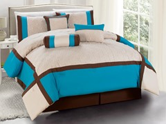 Odessa 7pc Comforter Set - Turquoise - 2 Sizes