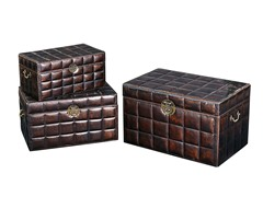Leather Upholstered Box Set