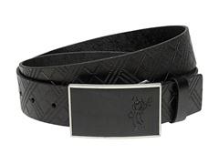 Ashworth Plaid Debossed Leather Belt