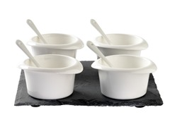 Luigi Bormioli 9pc Sauce/Relish Set