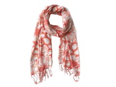 Kitara  Spring Floral Pattern Scarf Orange