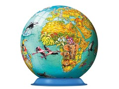 108Pc Children's World Map 3-D Puzzle Ball