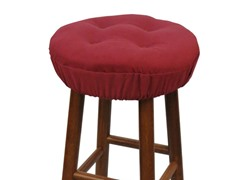 "Gripper® 14"" Barstool Covers-Pinwale-Burgundy S/2"