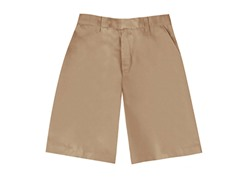 Boys Flat Front Short - Khaki (Sizes 4-16)