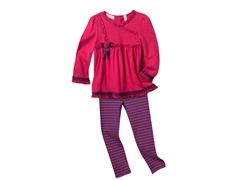 Tunic & Leggings Set - Hot Pink (3T-6X)