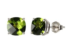 10K WG Stud Earrings, Peridot