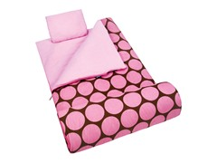 Wildkin Sleeping Bag - Big Dot Pink
