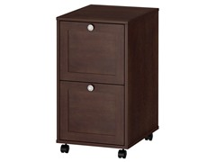 Two Drawer Mobile File - Warm Molasses