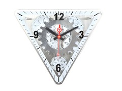 Triangular Moving Gear Wall Clock