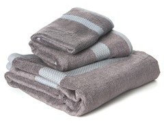 Bamboo Viscose 3-pc Towel Set - Grey
