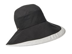 Delphinium Fashion Sun Hat, Black