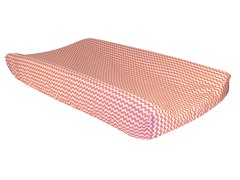 Coral Pink Chevron Changing Pad Cover