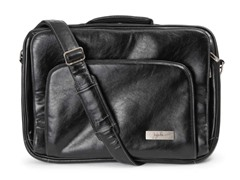 Black Giga Be Earth Leather Laptop Case