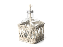 "Willow 6.7"" Oil Lantern with Wick"