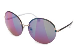 Women's Sunglasses, Gold/Mirrored Violet-Green