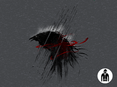 Corroborating Crow Jersey Zip Hoodie