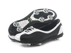 Women's Half Lace Golf Shoe, Black