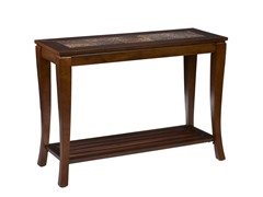 Cambria Brown Cherry Slate Sofa Table