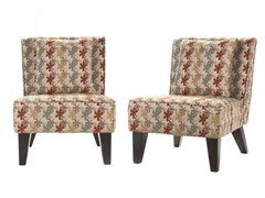 Pair Celia Chairs/Pillow - Clover Aegean