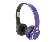 Stereo Bluetooth Headphones w/Mic - Purple