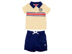 Cream 2-Pc Casual Short Set (3M-6M)