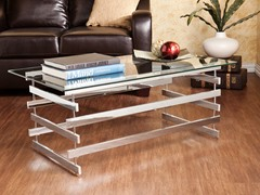 Hoxley Chrome & Glass Cocktail Table