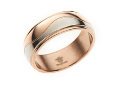 14k Rose Gold Plated Steel Swirl Ring