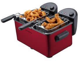 Big Boss Dual Deep Fryer 1500 Watts-Red
