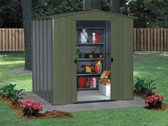 Spacemaker 6' X 3' Steel Shed