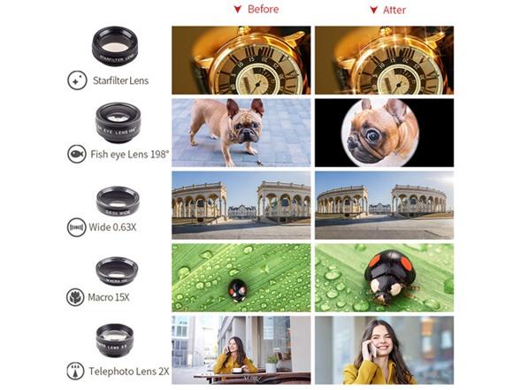 10-in-1 Smartphone Lens Kit w/ Remote