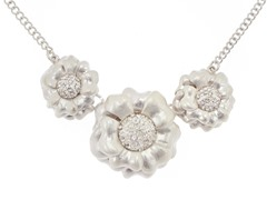 Relic RJ2047041 Silver Flower Necklace